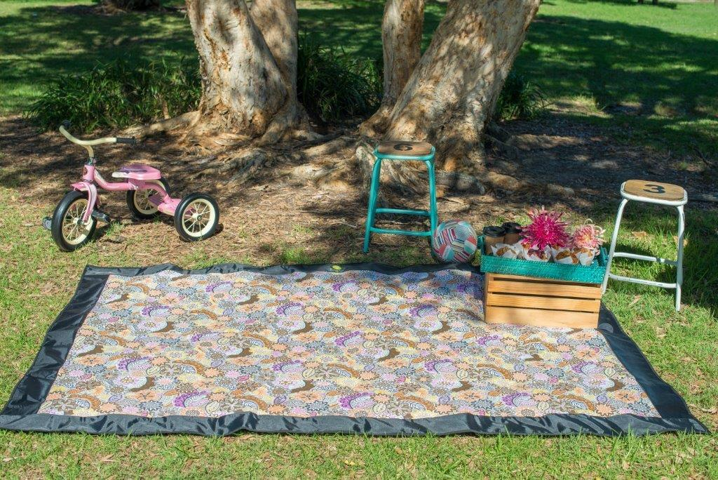 Pixie Rugs - Retro Yellow Floral